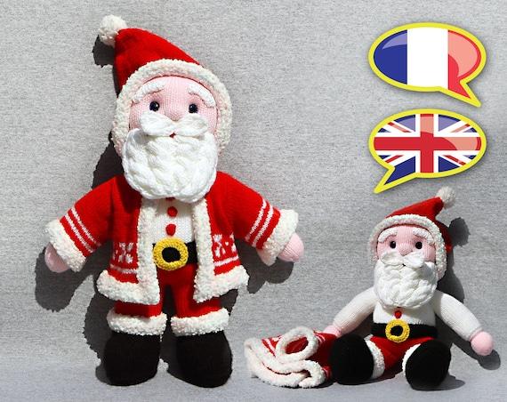 Modèle Tuto Tricot Père Noël Poupée Amigurumi
