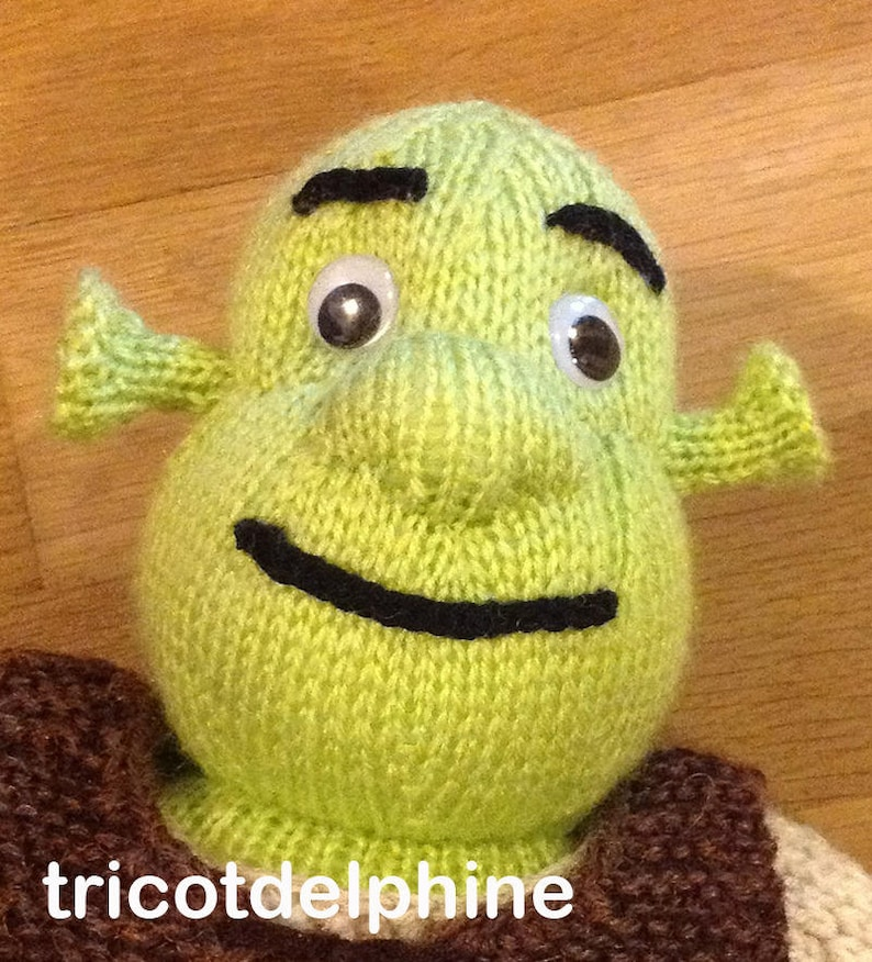 Knitting pattern toy green ogre amigurumi tribute to Shrek  5c66a90e5f4