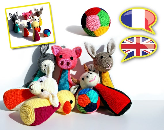 Knitting Pattern Toy Skittles Game Animals Farm Amigurumi Etsy
