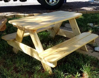 Exceptionnel Kids Picnic Table | Etsy
