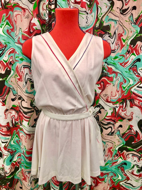 1980's cotton Tail tennis dress