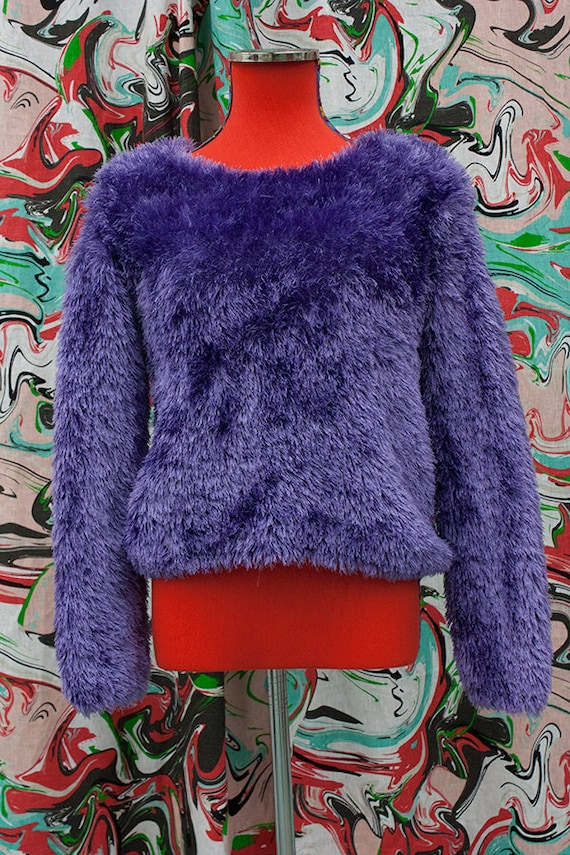 1990's cropped monster sweater