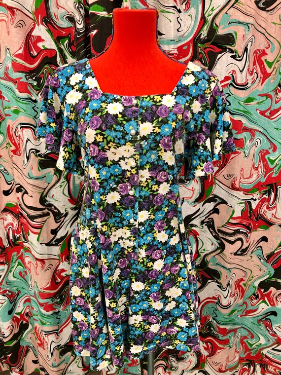 90/'s Floral Rayon Romper by Copper Key