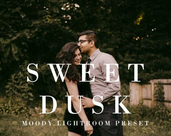 Sweet Dusk | Lightroom Preset, Moody Presets, Wedding Lightroom Presets