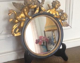 Fotorahmen oval Biedermeier Bilderrahmen Rahmen Metall Antik weiß shabby