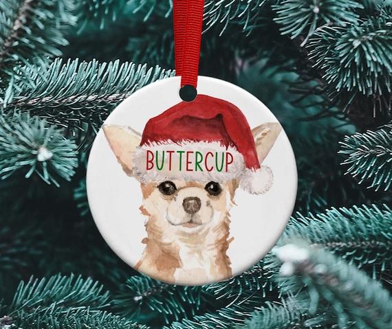 Chihuahua Christmas Tree Ornament Etsy