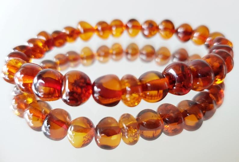 Baltic Amber Bracelets  Cognac Color  Wholesale Amber  Bracelet 5 pcs