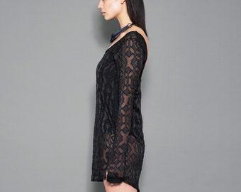 789a5ad5f5 Black Edgy Mini Dress