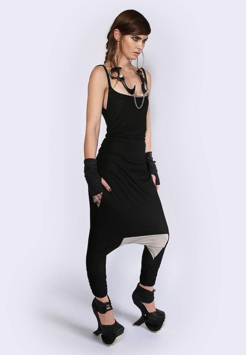 Pocket Jumpsuit Vegan Clothing Alternative Clothing Womens Summer Jumpsuit Drop Crotch Romper Futuristic Jumpsuit Harem Jumpsuit