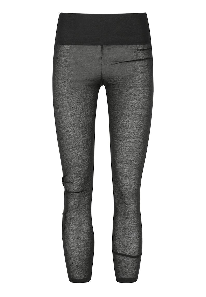 Black Knit Leggings Women/'s Urban Fashion Futuristic Clothing Transparent Black Leggings Goth Clubwear UMMOK See Through Leggings