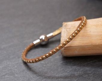Gold rhinestone child bracelet
