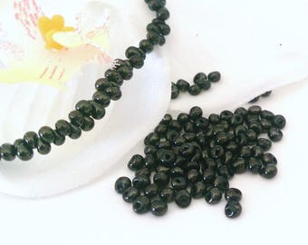 Plated drop beads 50 3 mm black Hematite (71 (A)