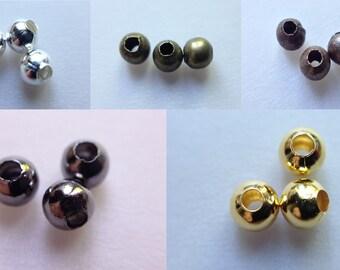 perles séparateurs 3mm boule antique bronze metal laiton rond ~300 //6