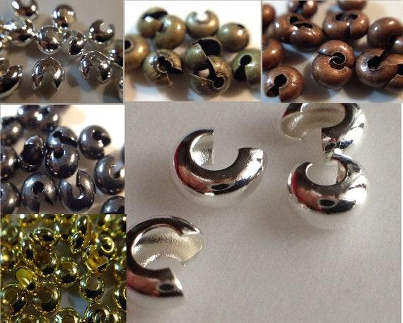 perles séparateurs 3mm boule bronze cuivre metal laiton rond ~300 //7