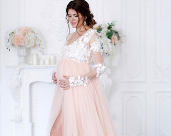 63aff0d6b6f60 Photoshoot maternity Gown Lace Maternity Dress Maternity Photo Dress  Pregnancy dress Pregnancy Photo maternity photo prop pregnancy