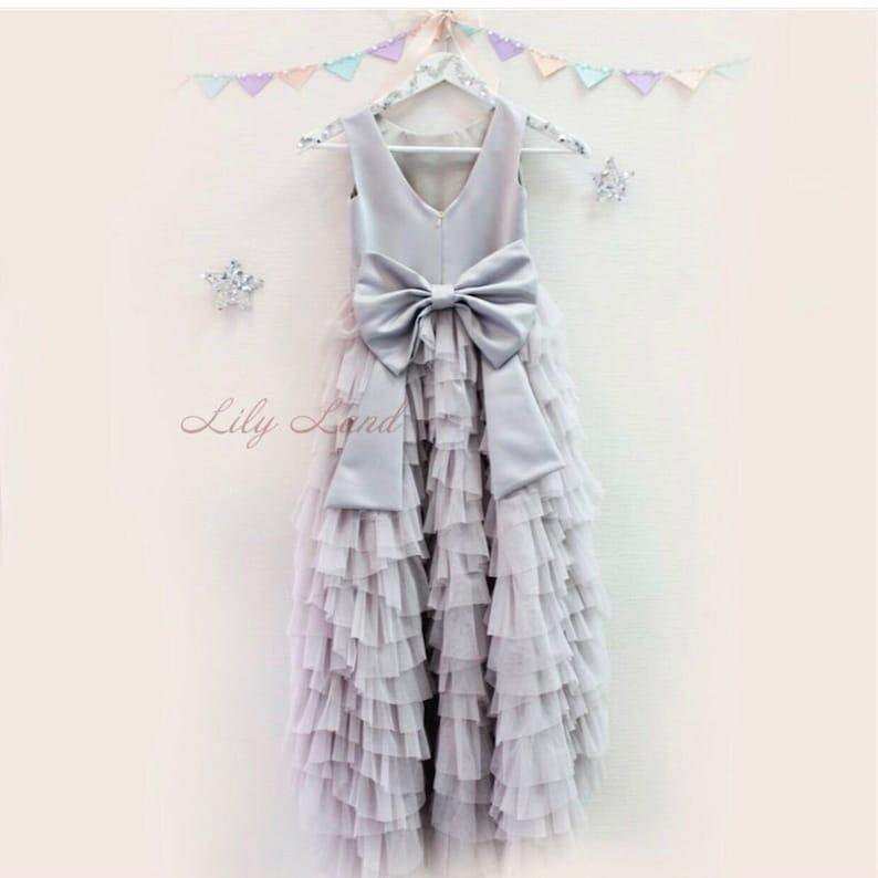 7496484298 Grey dress for birthday toddler party girls dress birthday | Etsy
