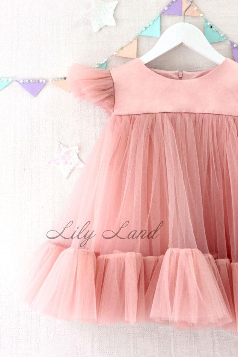 20186b3f247 Summer Dress dusty rose tutu dress Toddler Baby Girls Princess