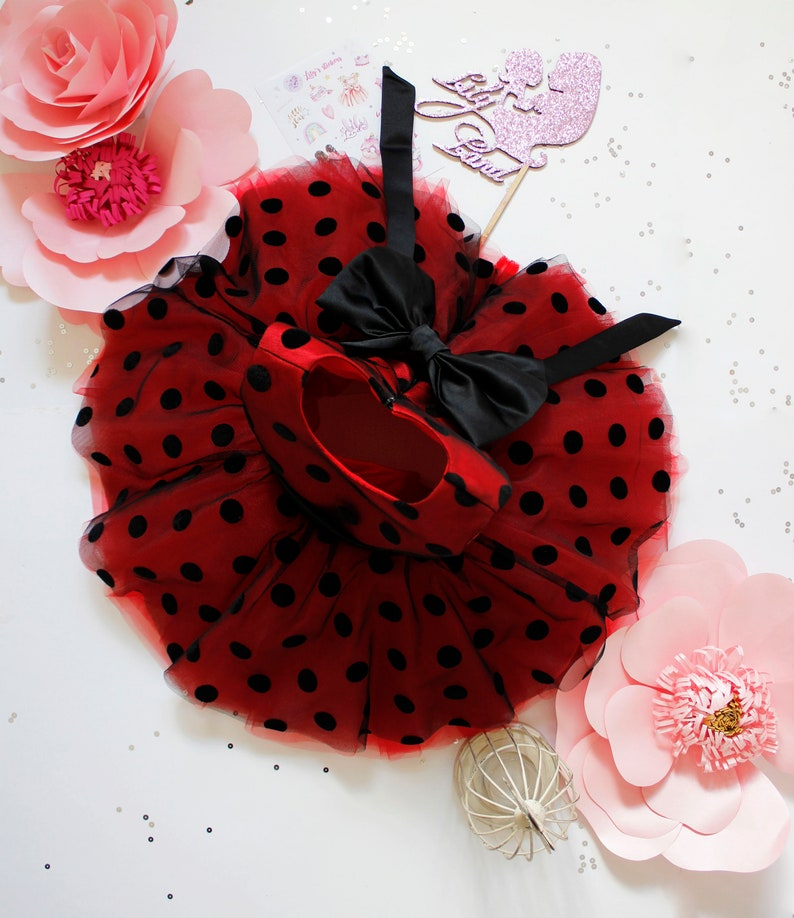 pageant fancy fairy tutu baby dress Minnie Mouse style baby girl dress festival birthday party polka dot red tulle puffy dress for girl