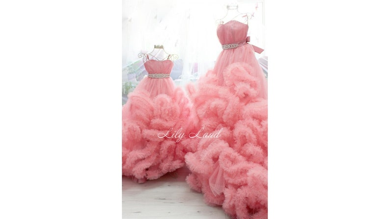 c248f7cd03249 Pink Mommy and Me dresses set 2 Dresses maternity gown Flower | Etsy
