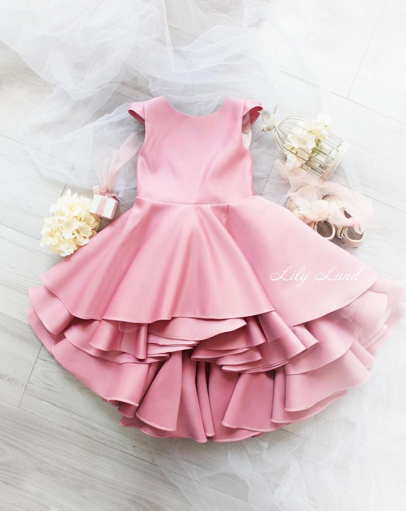aa614c7d537 Girls ruffle dress pink girl dress baby girl dress girls size