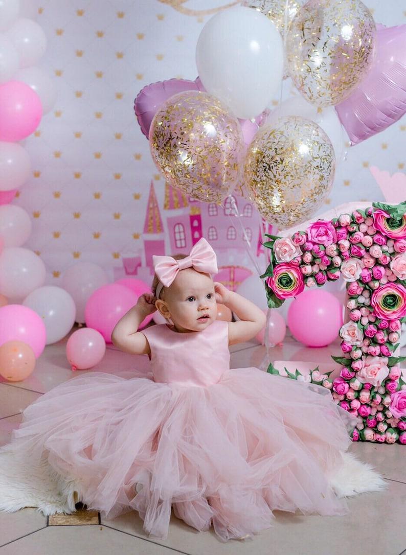 Pink Girl dress tutu dress for baby girls kids toddler dress tulle floor length dress long girl dress prom dress gown for girls baby