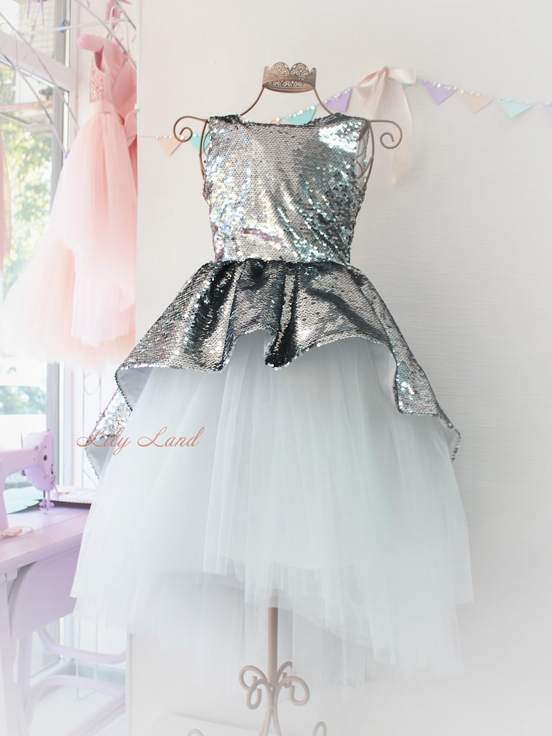 f6f6aee067 Girl dress silver white tutu dress girls tutu dress baby tutu dress kids  tutu dress toddler girl dress size 1 2 3 4 5 6 7 8 9 10 24 month