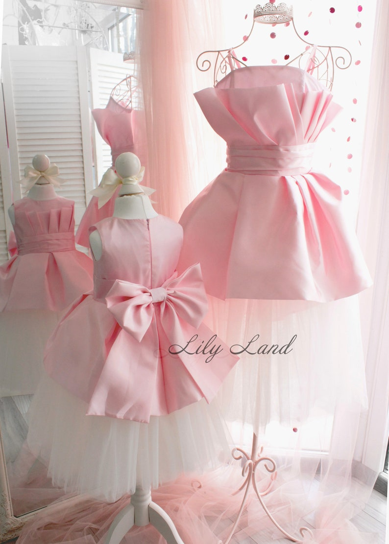 681be270c749 Matching Dresses Pink tutu Mother and daughter holiday dress | Etsy