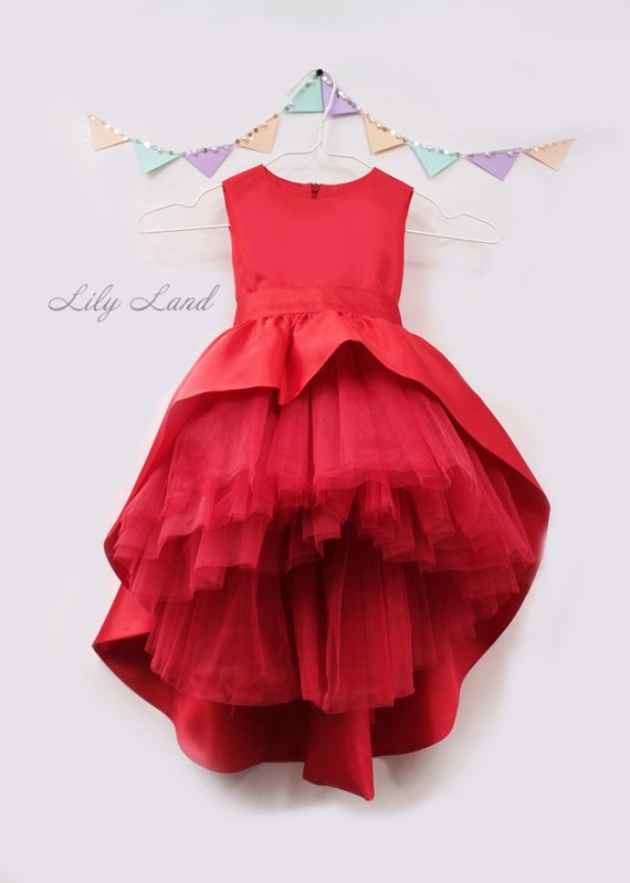 Red Girl Christmas Dress Red Holiday Dress Christmas Tutu Etsy