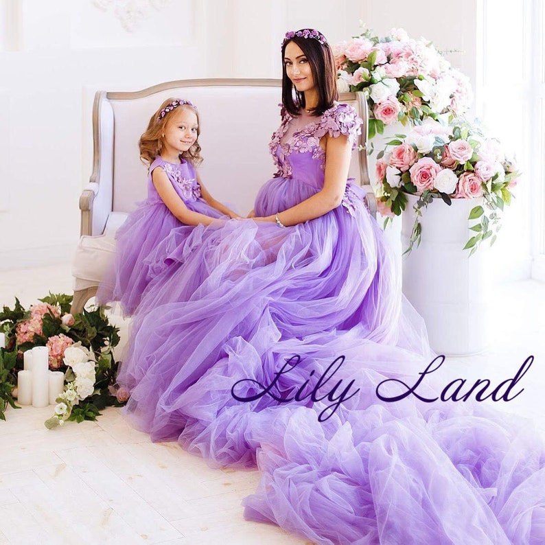 50e12491e2b27 Lavender mommy and me outfits dresses mother daughter matching | Etsy