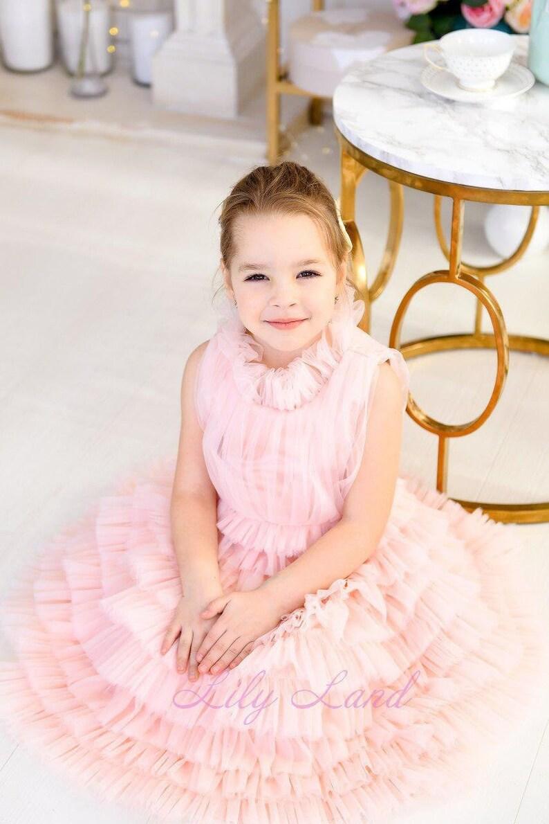 23a59b31f083 Light pink birthday girl dress formal clothes birthday party | Etsy