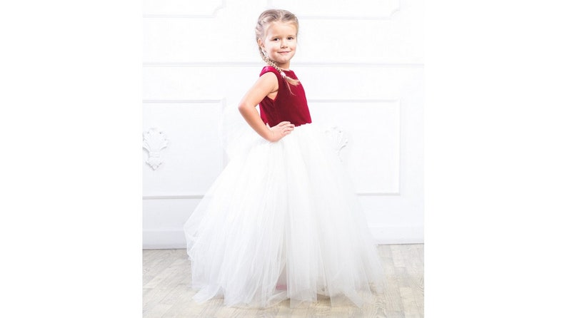 58ea02705d Girl dress dark red tutu dress for baby girls kids toddler dress tulle  floor length dress burgundy dress size 1 2 3 4 5 6 7 8 9 10 24 month