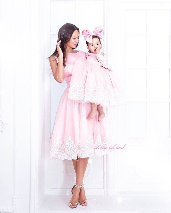 birthday party matching dresses family look dresses,black evening dresses Lace matching dresses mom and me dresses wedding guest dresses