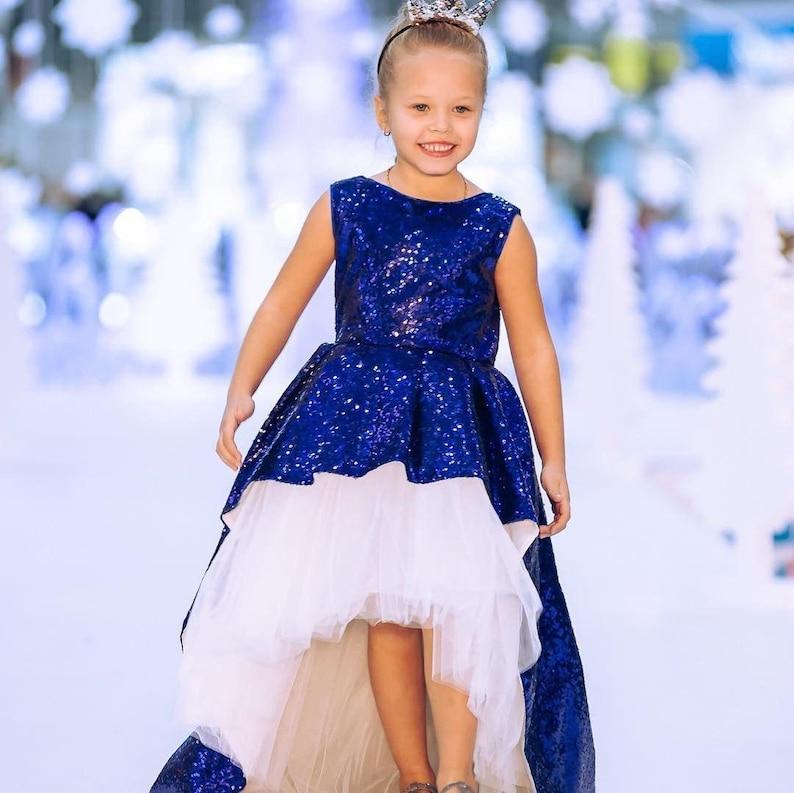 21f23fef90 Royal blue sequin dress toddler flower girl sparkling blueberry dress  wedding tutu dress flower girl tutu birthday dress royal blue wedding