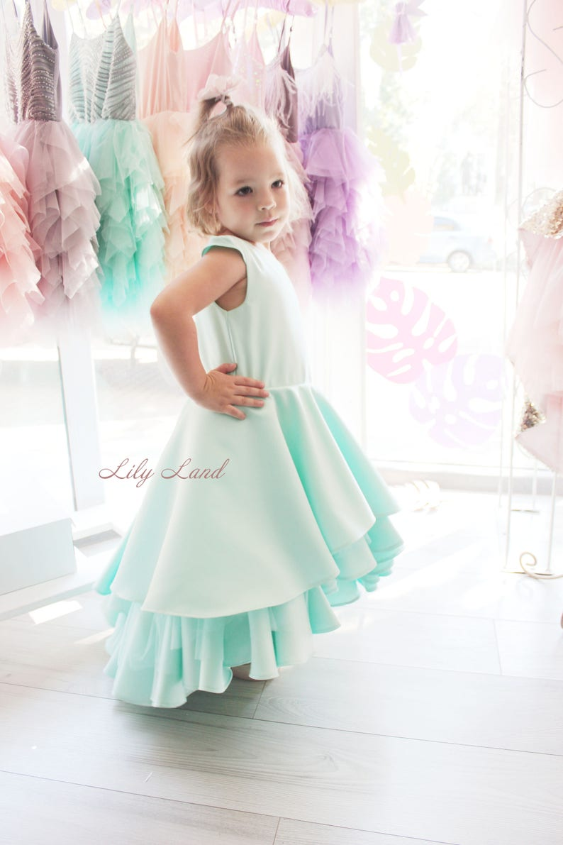 aaead3739 Girls ruffle dress mint green dress baby girl dress girls size | Etsy