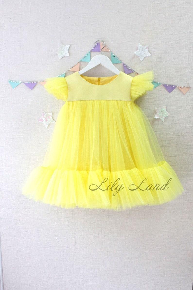 fb87fdd1380 Yellow Summer Dress Tutu dress Toddler Baby Girls Princess