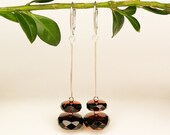 Dangle and drop natural amber earrings in dark red color royal women jewelry from genuine amber and silver small faceted amber earrings
