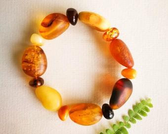 big genuine Baltic amber handmade gemstone bracelet honey yellow stunning gift for woman Huge amber bracelet healing amber stone