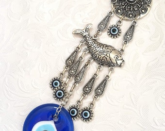 Evil Eye New Fashion Lucky Blue Crystal Peacock Evil Eye Keychain Best Wishes Gift Evil Eye For Woman Man Jewelry Pendent Jewelry & Accessories