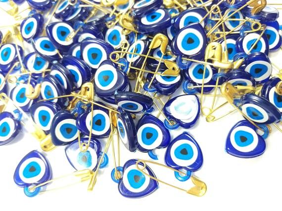 100 pcs baby plastic Turkish Evil Eye Nazar Beads Evil Eye Baby Shower