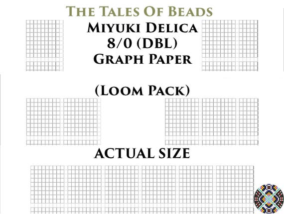 graphic regarding Bead Size Chart Printable named 8/0 Miyuki Delica Beading Graph Paper Serious Measurement Seed Bead Graph Paper Miyuki DBL Beading Graph Templates Loom Pack - Printable PDF Charts