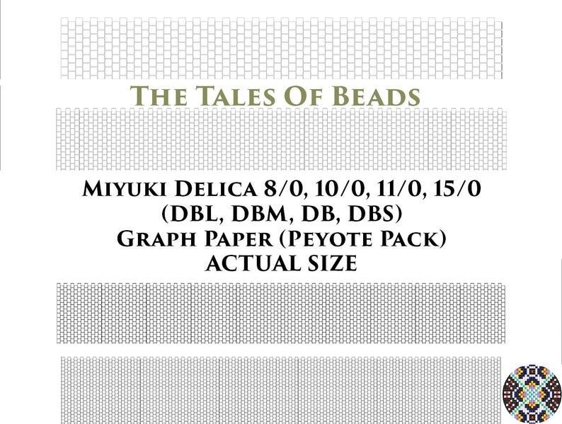 graphic regarding Printable Seed Bead Size Chart known as Miyuki Delica Peyote OR Brick Sch Beading Graph Paper True Sizing - Seed Bead Graph Paper Miyuki Beading Graph Templates Printable Charts
