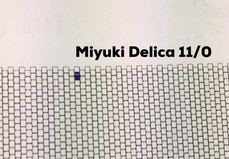 11  0 miyuki delica beading graph paper actual size seed