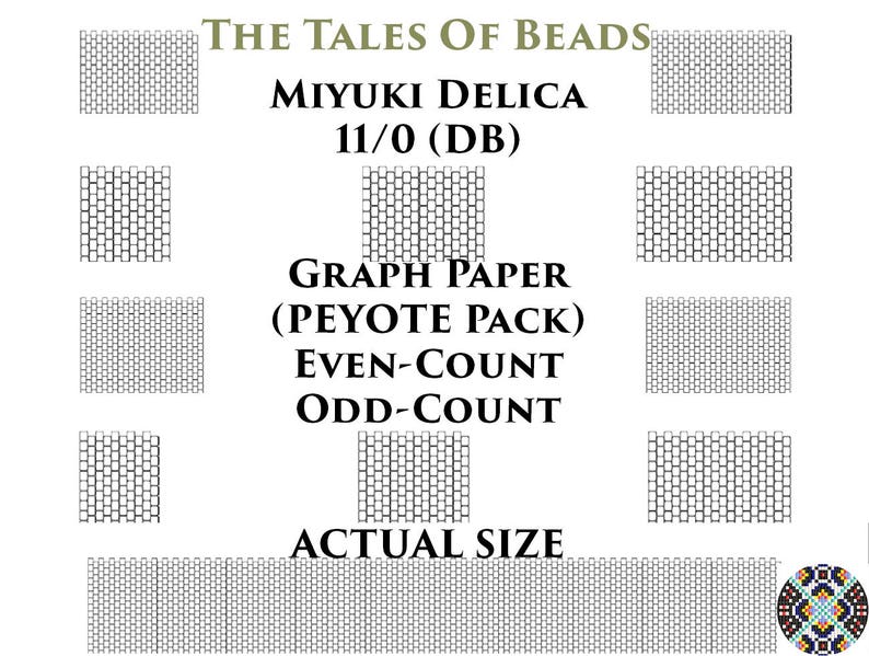 photo relating to Bead Size Chart Printable called 11/0 Miyuki Delica Beading Graph Paper Real Measurement Peyote OR Brick Sch Seed Bead Graph Paper Miyuki DB Beading Graph Printable PDF Charts