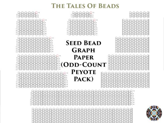 Seed Bead Graph Paper For Odd Count Peyote Bracelets Numbered Etsy