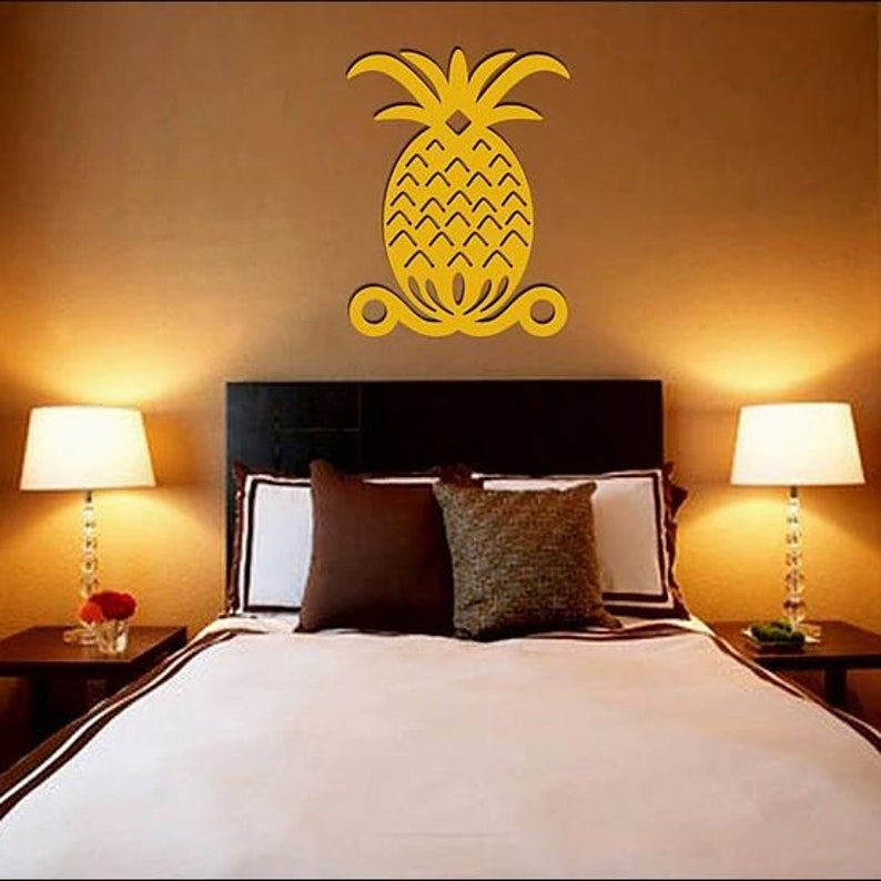 Pineapple Wall Art  Large 20 X 15 Free Shipping to mainland image 0