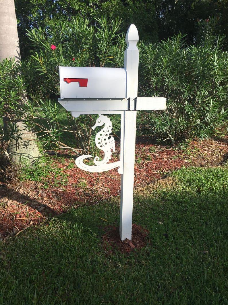 Seahorse Mailbox/Corner Bracket  Large. Long Lasting & image 0