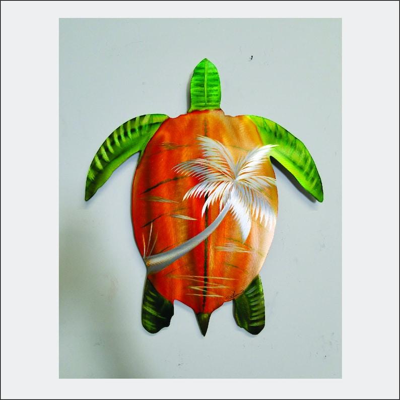 Turtle Metal Art  18 x 16. Free Shipping to mainland USA image 0