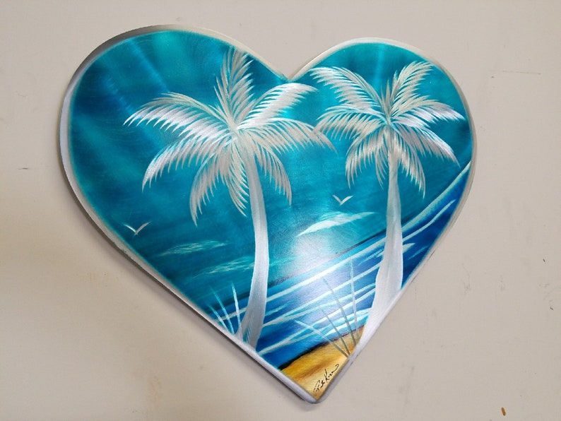 Palm Tree Heart 18 X 16. Free Shipping to mainland USA Indoor image 0