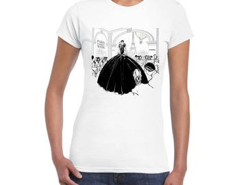 Paris fashion week Artistic DTG printed Ladies Junior Fit T-Shirt..!