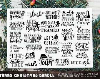 funny christmas quote svg cut file bundle deal cut file for cricut cameo silhouette quote dxf cut file christmas cut file cricut